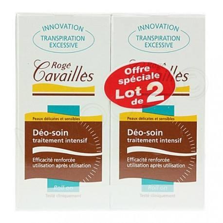 ROGE CAVAILLES Deo soin traitement intensif Boite de 2 Roll-on de 30 ml