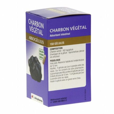 ARKOGELULES Charbon végétal Boite de 150 gélules