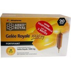 ARKOPHARMA ARKOROYAL Gelée Royale 1000 mg Lot de 2 boites de 20 ampoules