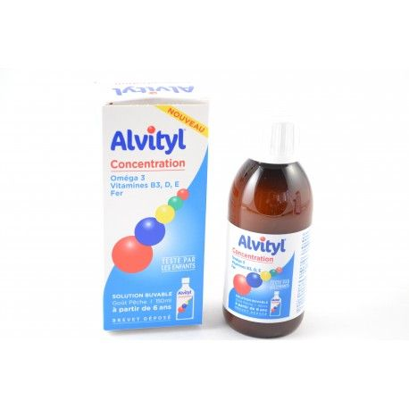 ALVITYL Concentration Solution buvable Goût pêche Flacon de 150 ml