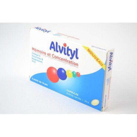 ALVITYL Mémoire et concentration Boite de 30 capsules vanille