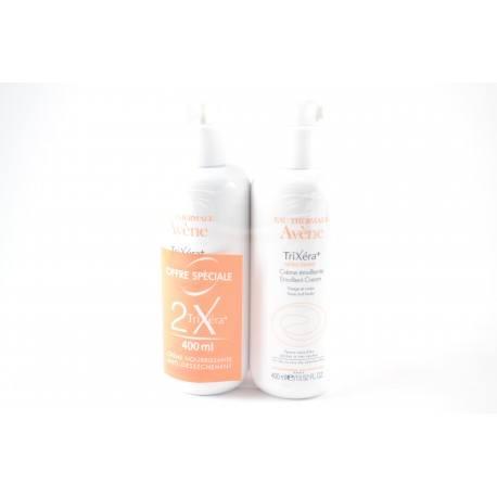 AVENE TRIXERA+ SELECTIOSE Crème émolliante visage et corps 2 tubes de 400ml