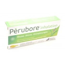 PERUBORE Inhalation Rhume, rhinite, rhinopharyngite Boite de 15 capsules déconestionnantes