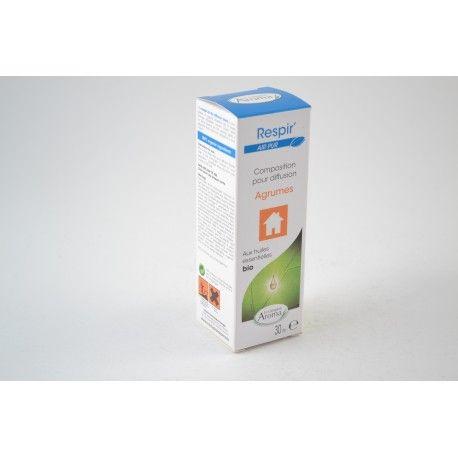 RESPIR' Composition d'huiles Essentielles BIO pour DIFFUSION AGRUMES Flacon de 30 ml