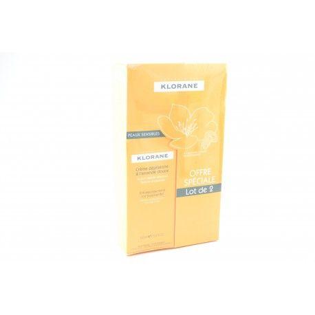 KLORANE Offre Crème dépilatoire action rapide douceur  2 tubes de 150 ml
