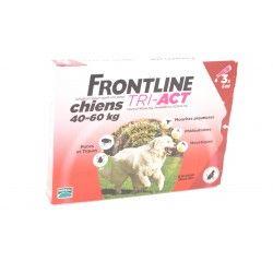 FRONTLINE TRI-ACT Chiens de 40 - 60 kg Boite de 3 pipettes de 2 ml