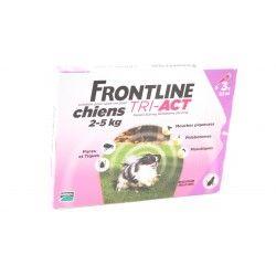 FRONTLINE TRI-ACT Chiens de 1 - 5 kg Boite de 3 pipettes de 2 ml