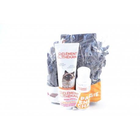 THEKAN Offre spécial chat traitement boules de poils + complexe vitaminé et un essuie-pattes offerts.