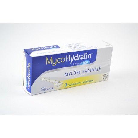 MYCOHYDRALIN Comprimé vaginal pour mycoise Boite de 3