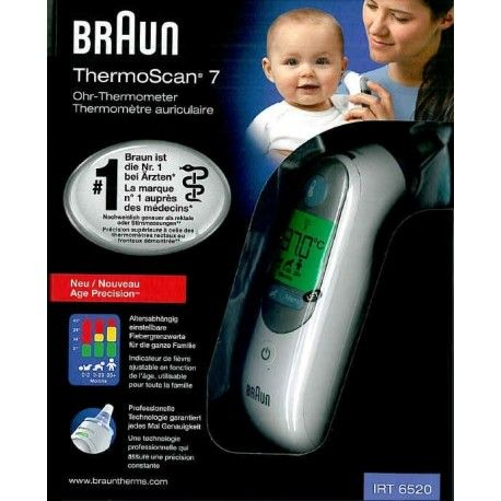 BRAUN ThermoScan 7 Thermomètre auriculaire Age Precision
