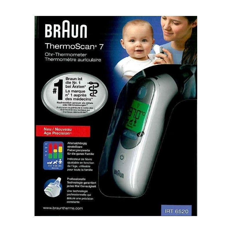 braun thermoscan 7 thermom tre auriculaire age precision. Black Bedroom Furniture Sets. Home Design Ideas