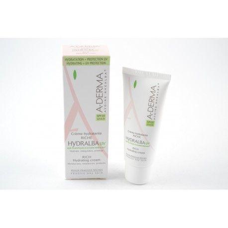 A-DERMA HYDRALBA Crème hydratante UV Riche Tube de 40 ml