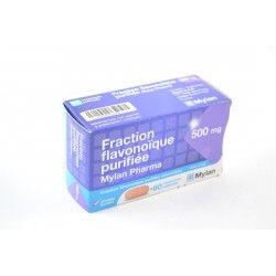 FRACTION FLAVONOÎQUE Purifiée 500 mg Boite de 60 comprimés