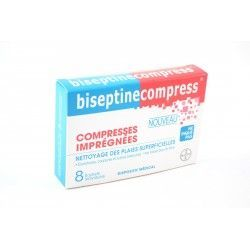 BISEPTINE COMPRESS Boite de 8 sachets individuels