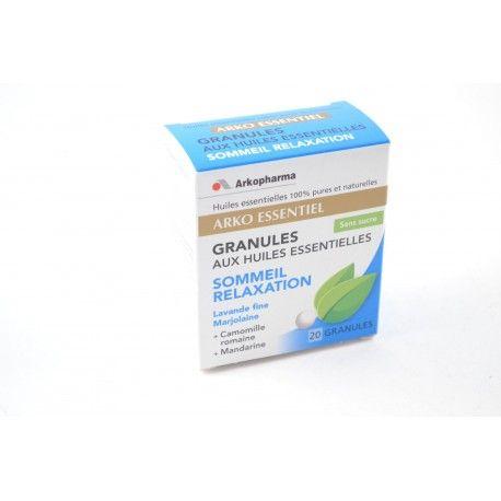 ARKOPHARMA Arko Essentiel Sommeil Relaxation Boite de 20 granules