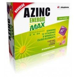 ARKOPHARMA Azinc Energie Max Sans caféine 30 comprimés à croquer