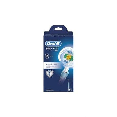 ORAL B Pro 700 White & Clean Brosse à dents rechargeable
