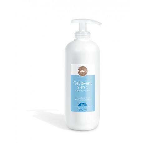 GIFRER Gel lavant 2 en 1 Corps et cheveux Flacon pome de 500 ml