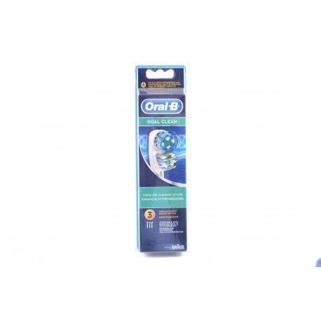 ORAL B Brosettes Dual Clean Boite de 3