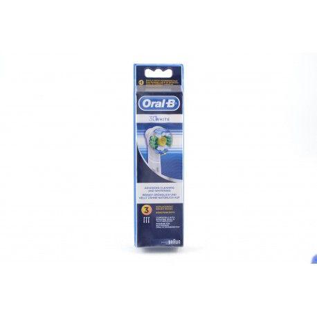 ORAL B Brossettes 3D white Boite de 3