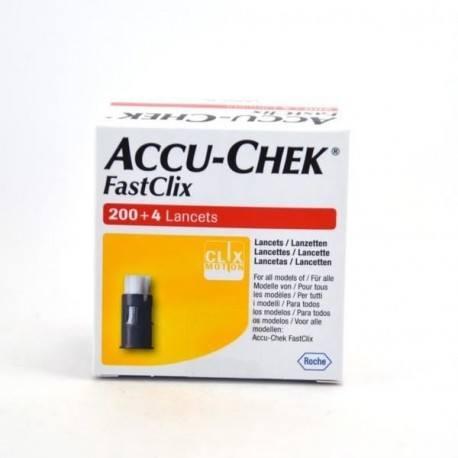 ACCUCHEK FASTCLIX Lancettes Boîte de 204