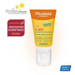 MUSTELA Lait solaire très haute protection SPF 50+ Spécial visage Tube de 40 ml