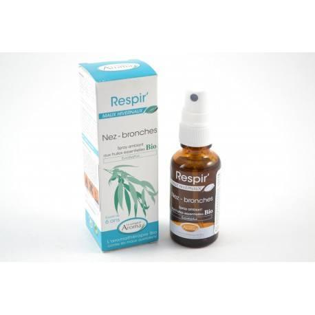 RESPIR Spray ambiant Eucalyptus Nez et bronches Spray de 30 ml