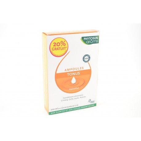 PHYTOSUNAROMS Ampoules Tonus 20% gratuit 20 ampoules