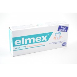 ELMEX SENSITIVE Pack double Lot de 2 tubes de 75 ml