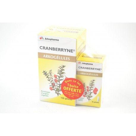 ARKOGELULES Cranberryne Gélules Flacon de 150 gélules + 45 gélules offertes