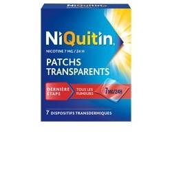 NIQUITIN 7mg/24h 7 Patchs transdermiques transparents