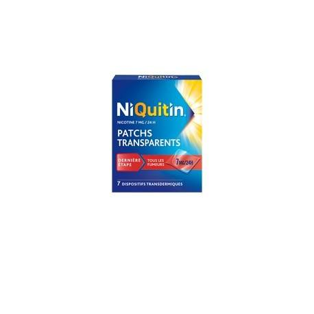 NIQUITIN 7mg/24h 7 Patchs transdermiques tranparents