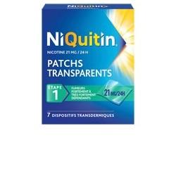 NIQUITIN 21mg/24h 7 Patchs transdermiques transparents