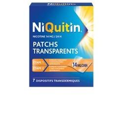 NIQUITIN 14mg/24h 7 Patchs transdermiques transparents