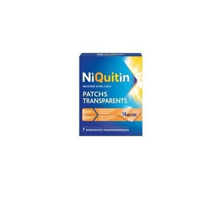 NIQUITIN 14mg/24h 7 Patchs transdermiques tranparents