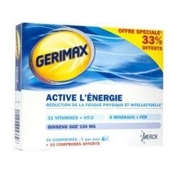 Gerimax boite de 30 conprimés + 10 comprimés offert