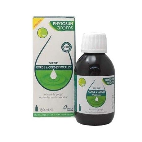 PHYTOSUN AROMS Sirop Gorge et cordes vocales Flacon de 150 ml