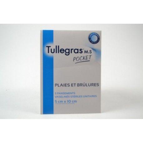 TULLEGRAS M.S Pocket Boite de 5 pansements de 5 cm X 10 cm