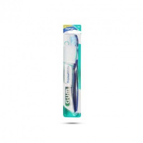 GUM Original White Brosse à dent Médium avec capuchon