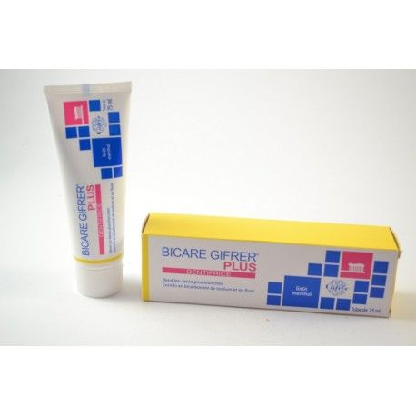 GIFRER Bicare Plus dentifrice Gout Menthol Tube de 75 ml