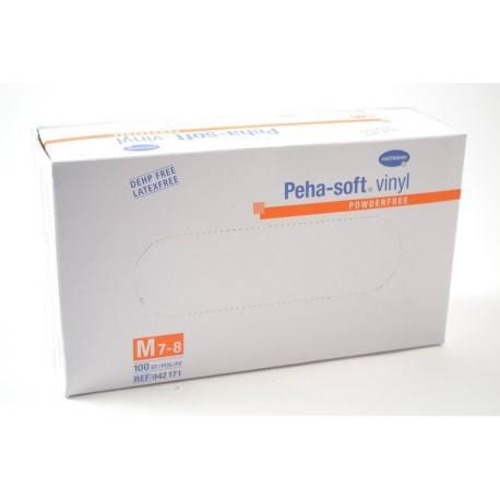 PEHA-SOFT Vinyle Boite de 100 gants Taille M (7-8)