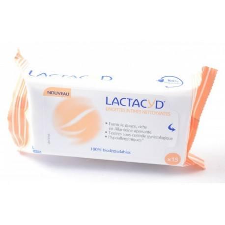 LACTACYD FEMINA 2 + 1 gratuit Lingettes hygiène intime Pochette de 15
