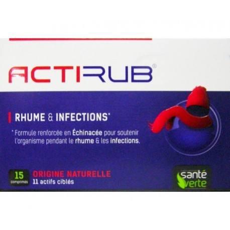 ACTIRUB Rhume et infections Boite de 15 comprimés