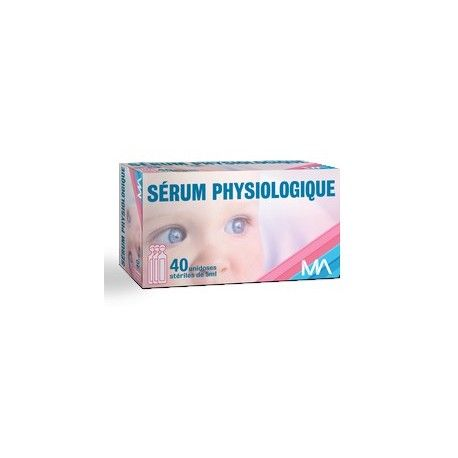Sérum physiologique PHR Boite de 40 unidoses de 5 ml