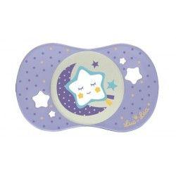 """LUC ET LEA Sucette nuit phosphorescente """"étoile"""" 0 mois et +"""