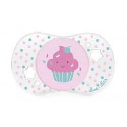 """LUC ET LEA Sucette en silicone """"Cupcake"""" 0 mois et +"""