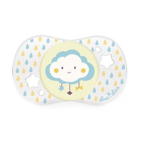 """LUC ET LEA Sucette en silicone """"nuage"""" 0 mois et +"""