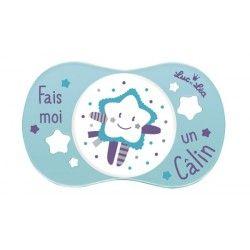 """LUC ET LE Sucette en silicone """"Fais moi un câlin"""" 6 mois et +"""