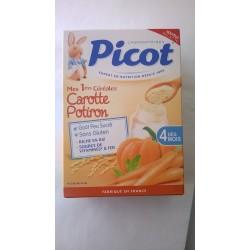 PICOT Mes 1ères céréales Carotte Potiron Dès 4 mois Boite de 200 grammes