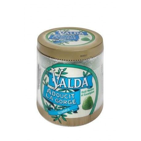 VALDA Gommes menthe eucalyptus Boite de 160